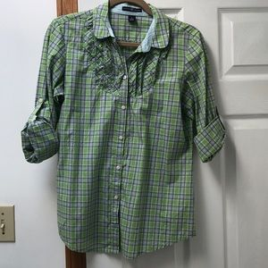 GAP rolled sleeve button down